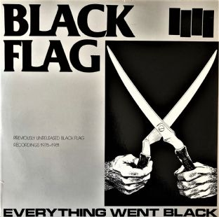 Black Flag ‎- Everything Went Black (LP) (EX/VG-)